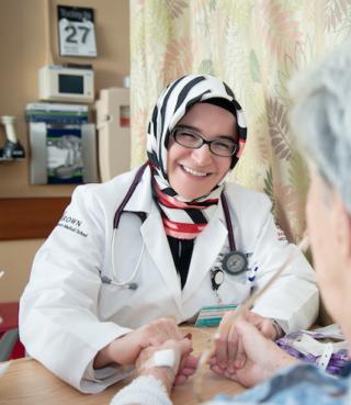 Dr. Cizinger with patient photo